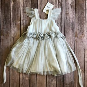 d58a0e7c990281 Other - BRAND NEW Toddler Silver Glittery Dress